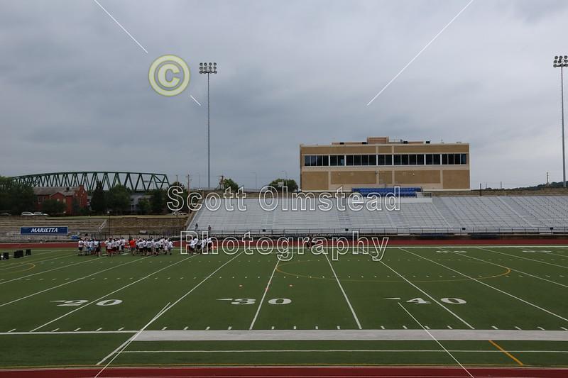 Don Drumm Stadium is located in Marietta, Ohio, and home to the Marietta High School Tigers