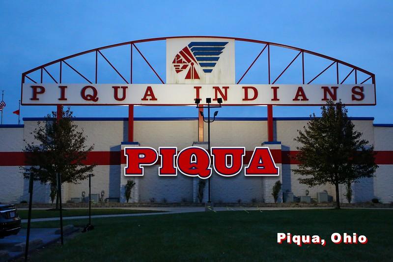 Piqua Stadium is located at Piqua High School in Piqua, Ohio, and Home to the Indians (Friday, November 23, 2018)