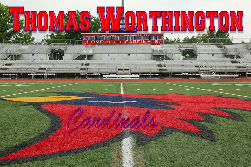 Hamilton Field, Thomas Worthington High School Football Stadium is located in Worthington, Ohio, and Home to the Thomas Worthington Cardinals - Friday, June 20, 2014