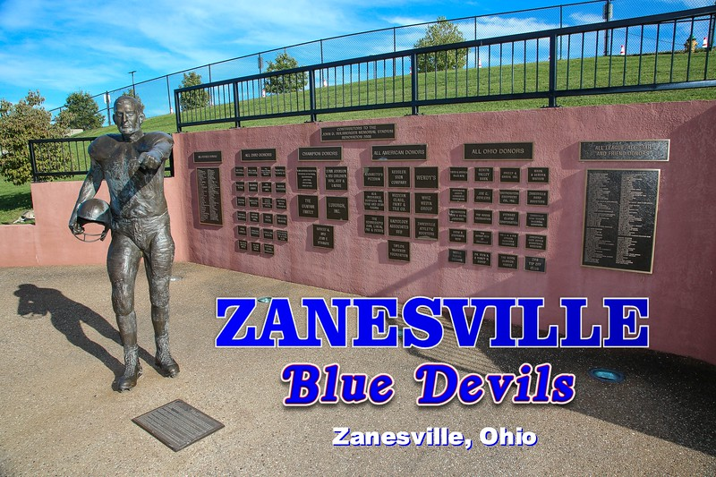 Sulsberger Stadium is located on the grounds of Zanesville High School which is in Zanesville, Ohio, and Home to the Zanesville Blue Devils  (Friday, September 4, 2020)
