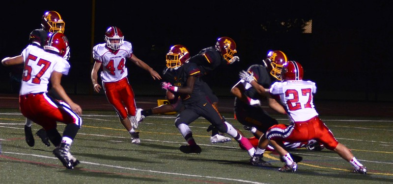 Burlingame High vs MA Varsity Football 2016-10-07