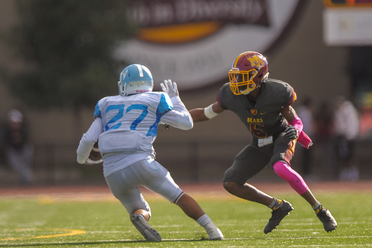 Menlo-Atherton Varsity Football vs. Hillsdale High School, 2016-10-29.