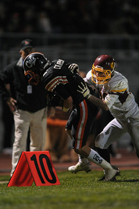 Menlo Atherton High Varsity Football vs. Los Gatos High semi final game.  2013 CIF Central Coast Section Playoff - Division II playoff series.