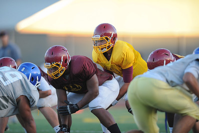 Menlo Atherton High School Vs. Junipero Serra Varsity Football, Scrimmage, 2012-08-18