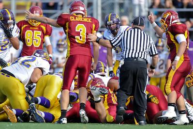 Fumble!  Menlo Atherton High School Varsity Football vs. Salinas 2011-11-25