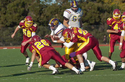 Andrew tackle!  Menlo Atherton High School Varsity Football vs. Salinas 2011-11-25