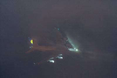 Lufthansa flight over South San Francisco High School, 2012-08-31