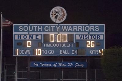 Final Score, Menlo Atherton High School Varsity Football vs. El Camino High, 2012-08-31