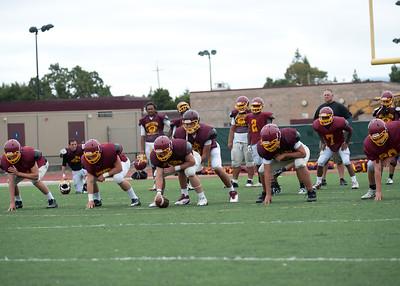 Menlo Atherton High vs. Jefferson, Football Scrimmage, 2011-07-16