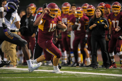 Menlo Atherton Varsity  Football vs. Archbishop Riordan High School 2015-09-18