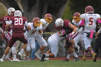 Menlo Atherton Varsity Football vs. Sacred Heart Prep, 2014-10-31