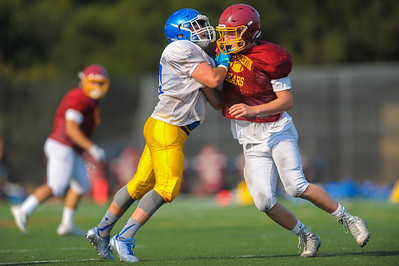 Menlo Atherton Varsity Football Scrimmage against Junípero Serra High School, 2016-08-19