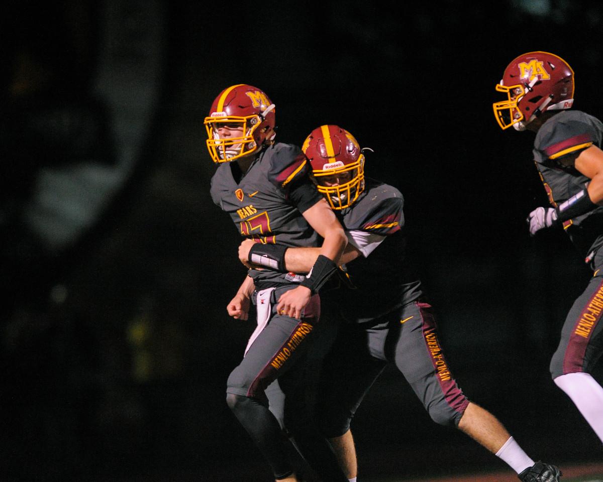 Menlo-Atherton Varsity Football vs. Woodside High, November 4,  2016