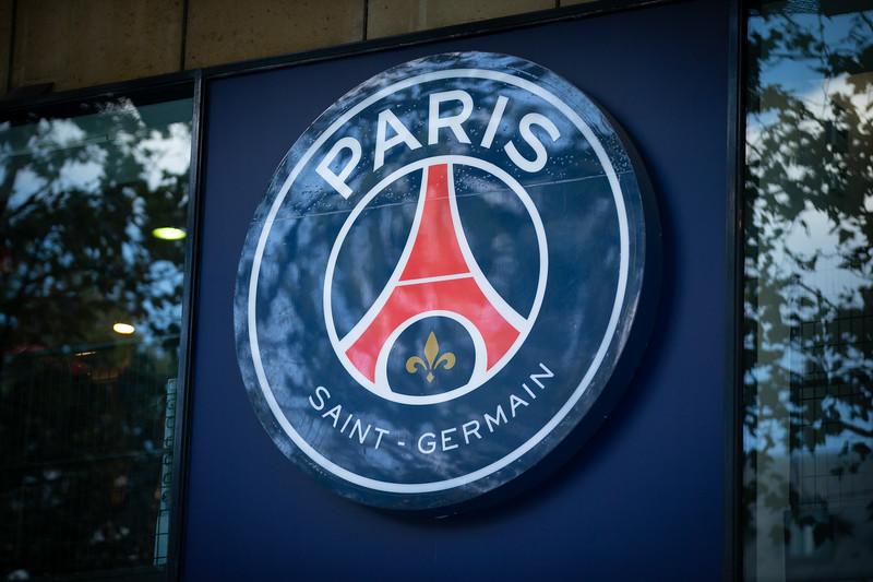 Paris Saint-Germain logo ; Football worldcup final  in, Paris, France; 17.07.18, Photo: Jan von Uxkull-Gyllenband