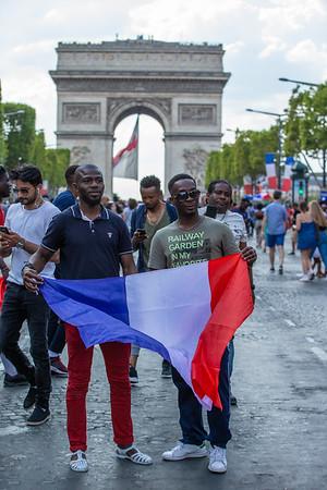 ; Football worldcup final  in, Paris, France; 17.07.18, Photo: Jan von Uxkull-Gyllenband
