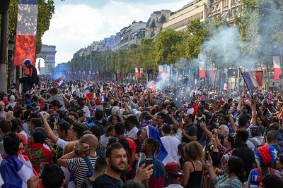 Champs Elysees; Football worldcup final  in, Paris, France; 17.07.18, Photo: Jan von Uxkull-Gyllenband