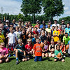 Local kids participated in football camp at Doyle Field this week. This photo was taken on the final day of the camp, Friday, Aug. 12, 2016. SENTINEL & ENTERPRISE / Ashley Green