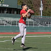 Fitchburg High School freshman Alex Oquendo makes a nice catch while playing a little football at Fitchburg State University on Thursday, March 27, 2020 with fellow classmates and friends. SENTINEL & ENTERPRISE/JOHN LOVE