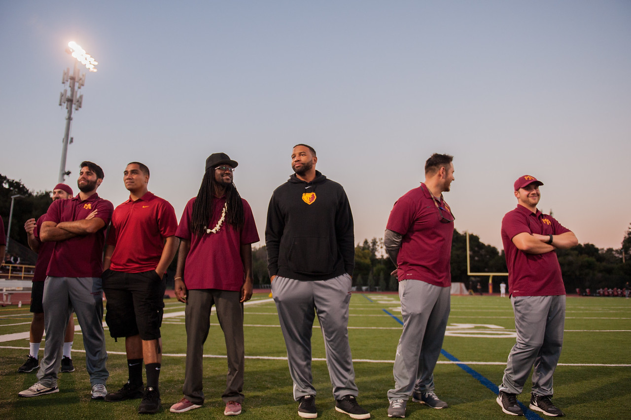 Menlo-Atherton Varsity Football Senior Night, November 4,  2016
