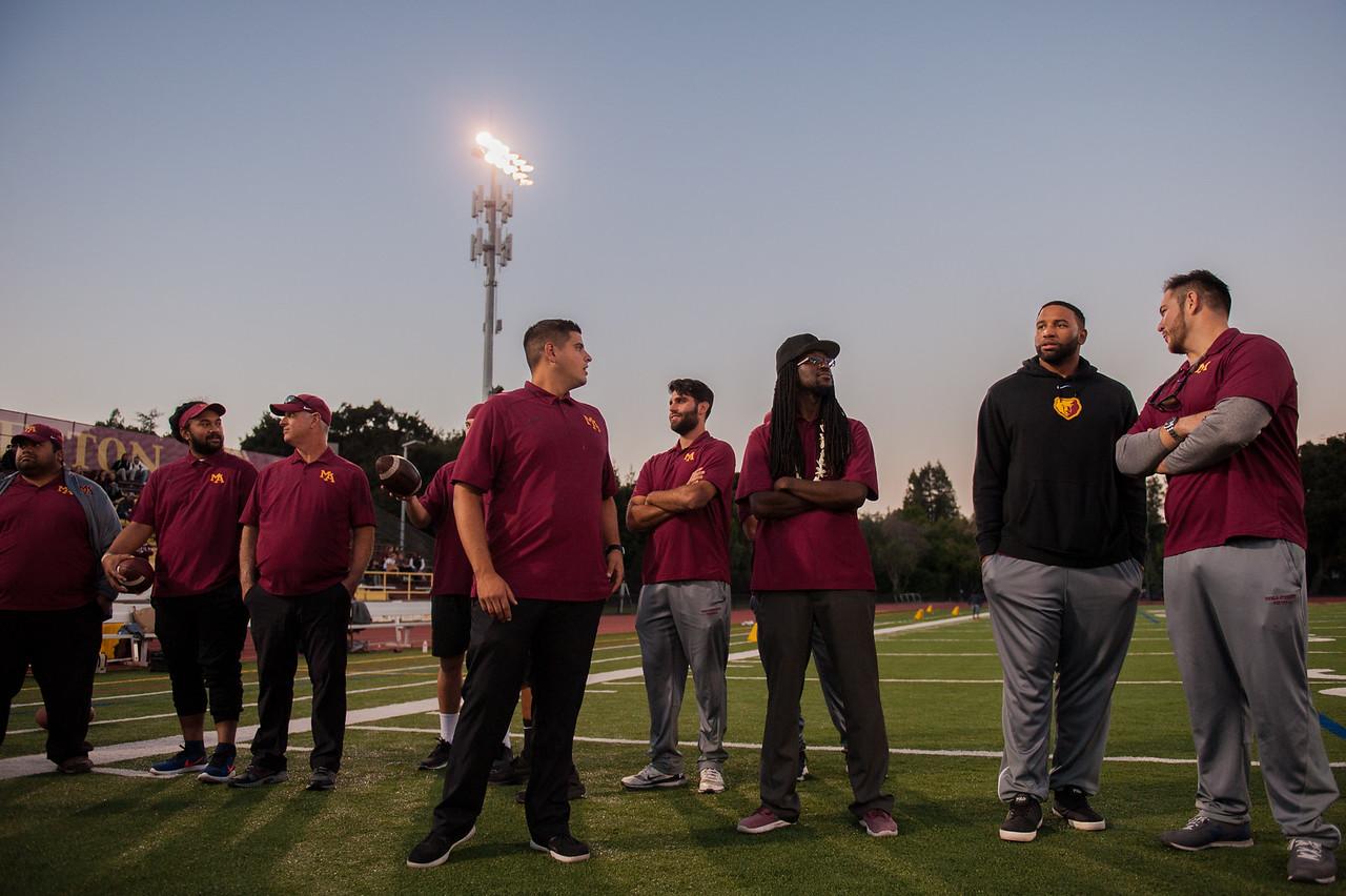 Menlo-Atherton Varsity Football Senior Night, November 4,  2016