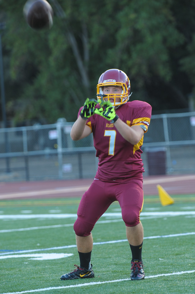 Menlo-Atherton Varsity Football Warm Up  before playing St. Ignatius College Preparatory. 2013-09-20