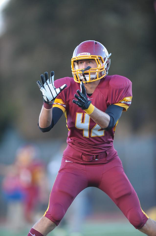 Menlo-Atherton Varsity Football Warm Up  before playing St. Ignatius College Preparatory. 2013-09-20
