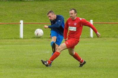 David Brolley beaten to the ball
