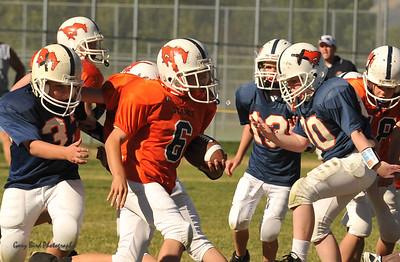 20100925 8190  2010-09-25 WFFL  Jr. Pee Wee, Mtn. Crest White  @ Mtn. Crest Blue (Bowler)