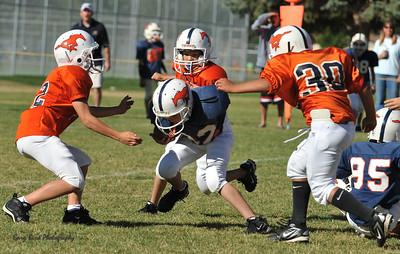 20100925 8211  2010-09-25 WFFL  Jr. Pee Wee, Mtn. Crest White  @ Mtn. Crest Blue (Bowler)