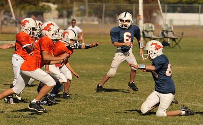 20100925 8133  2010-09-25 WFFL  Jr. Pee Wee, Mtn. Crest White  @ Mtn. Crest Blue (Bowler)