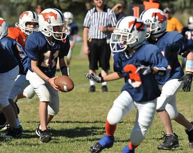 20100925 8223  2010-09-25 WFFL  Jr. Pee Wee, Mtn. Crest White  @ Mtn. Crest Blue (Bowler)