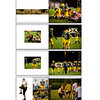 "This shows pages from a 8""x6"" twenty page soft cover book created for one of the players. Books can be soft or hard cover and come in a variety of sizes with soft cover and hard cover options."