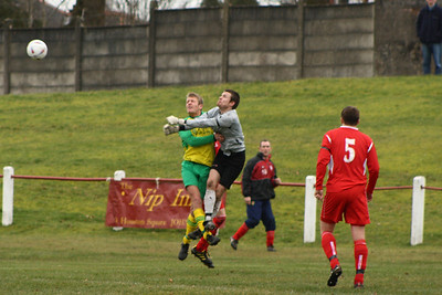 Fraser Wilson clears a cross