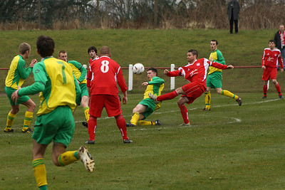 John Sherry attempting a shot at goal