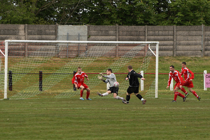 Point blank save from Fraser Wilson