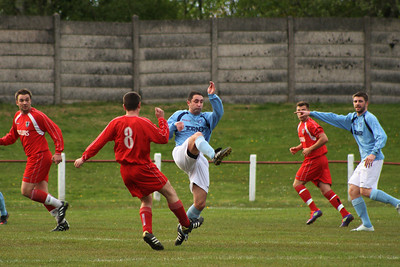 Colin Smith clears the ball