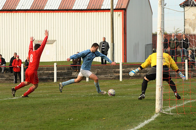 Joe McGinley getting a shot on goal