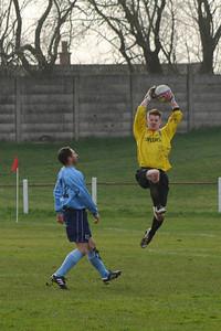 Colin Smith beaten to the ball