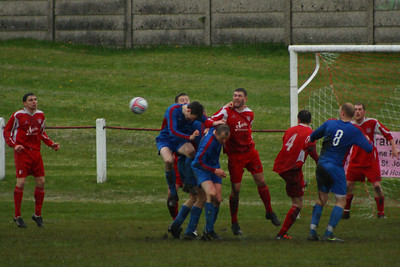 Carluke pressed forward in the second half but Burgh dealt with everything thrown at them. Apart from the rain.