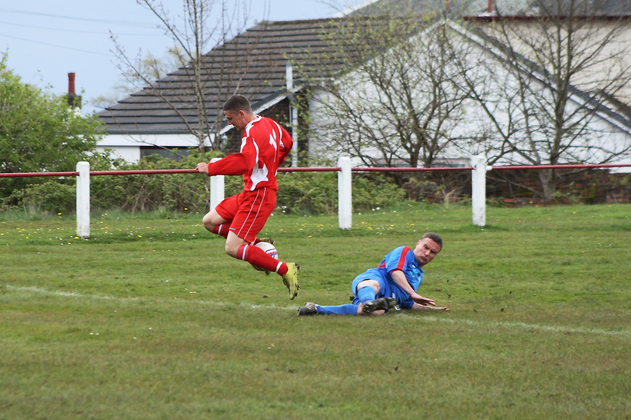 Grant Kelly stopped on his way into the box