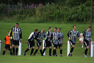 Port Glasgow celebrate their third goal
