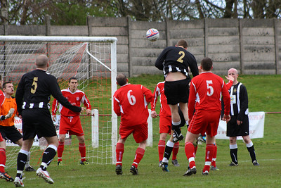 1-0 to Royal Albert. The runner wasn't picked up and got a free header that went in via the top corner.