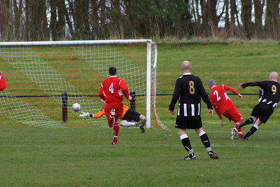 Royal Albert make it 2-2. A quick break from midfield sets up the chance which was well taken, giving Fraser Wilson no chance in the Burgh goal