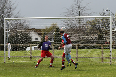 Goal number four for St Ninians, header from a cross leaving the keeper with no chance