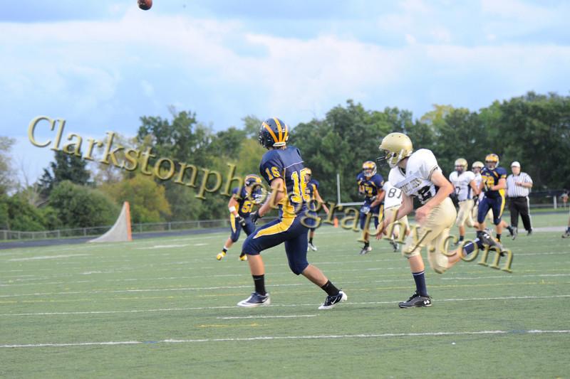 2012 Clarkston JV Football vs  Stoney Creek  035
