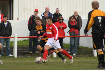 Lee Cochrane looking to make a pass