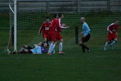 A sore one for Fraser Wilson after this save