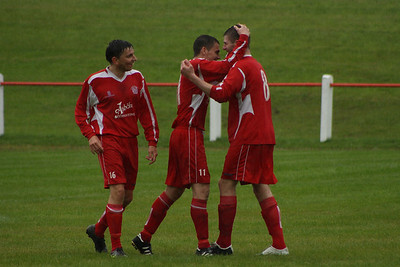 Burgh celebrating Grant Kelly's goal