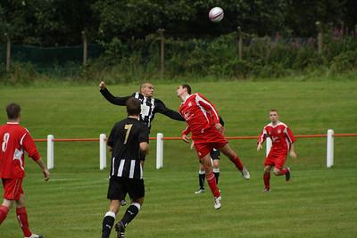 Joe McGinlay beaten to the ball