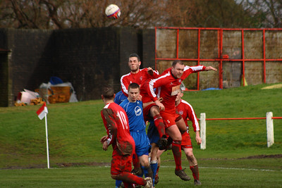 Gordon Ion clears  Johnstone Burgh 1 Carluke Rovers 2 Stagecoach West of Scotland League Central District  First Division Keanie Park 22/03/2014